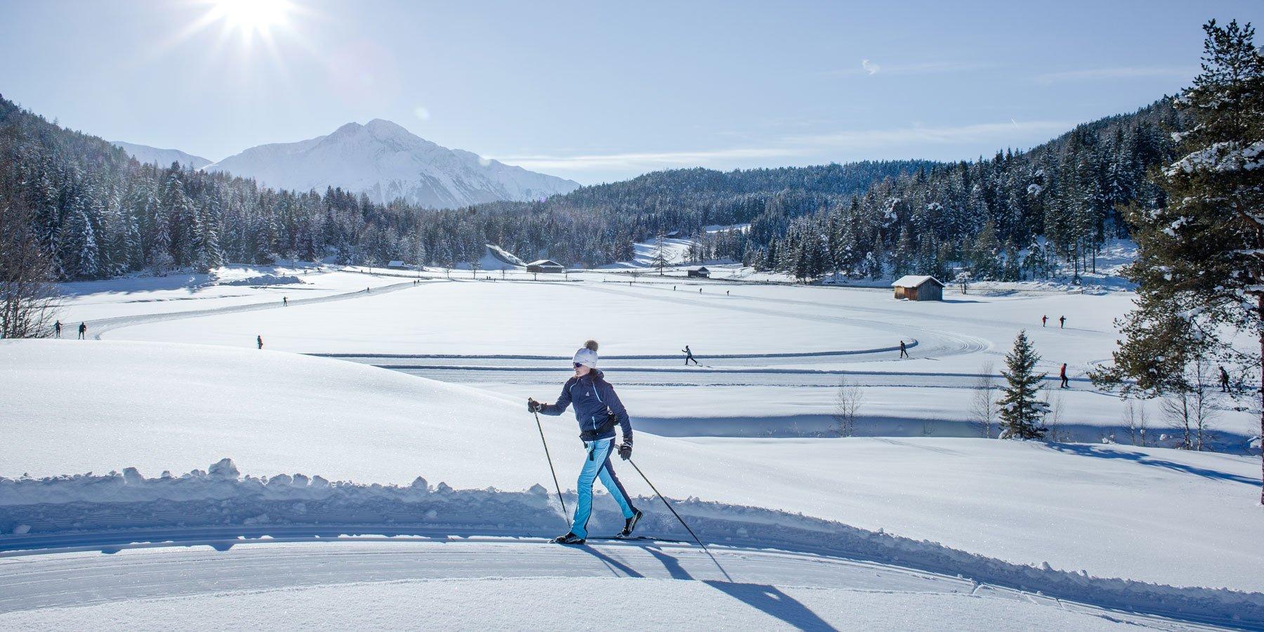 Langlaufen in der Olympiaregion Seefeld
