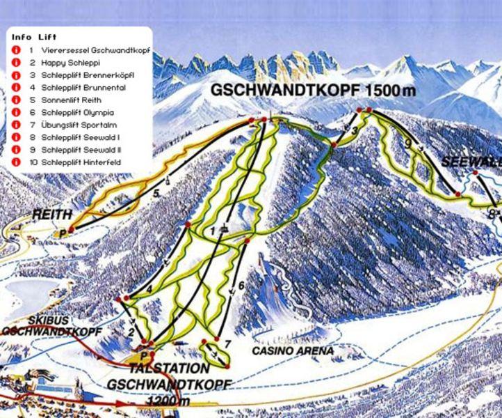 Skigebiet Gschwandtkopf Seefeld/Reith